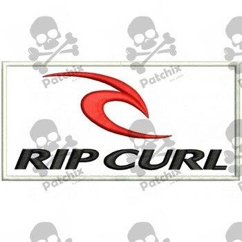 RIP CURL Iron Patch Toppa Ricamata Gestickter Patch Brode Remendo Bordado Parche Bordado