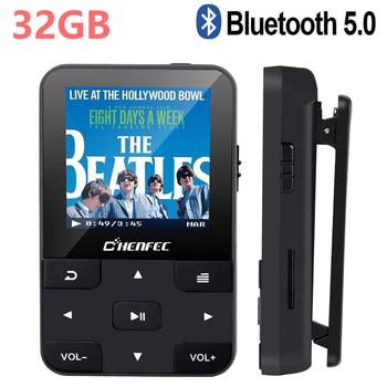 32GB Bluetooth5 0 odtwarzacz MP3 Mini Sport Clip odtwarzacz muzyczny MP3 z ekranem dyktafonem radiem FM krokomierzem obsługą karty SD tanie i dobre opinie CHENFEC CN (pochodzenie) FLAC NONE 58mm x 41mm x 15mm Bateria litowa E-czytanie książki Radio FM Pedo metr Przeglądarka zdjęć