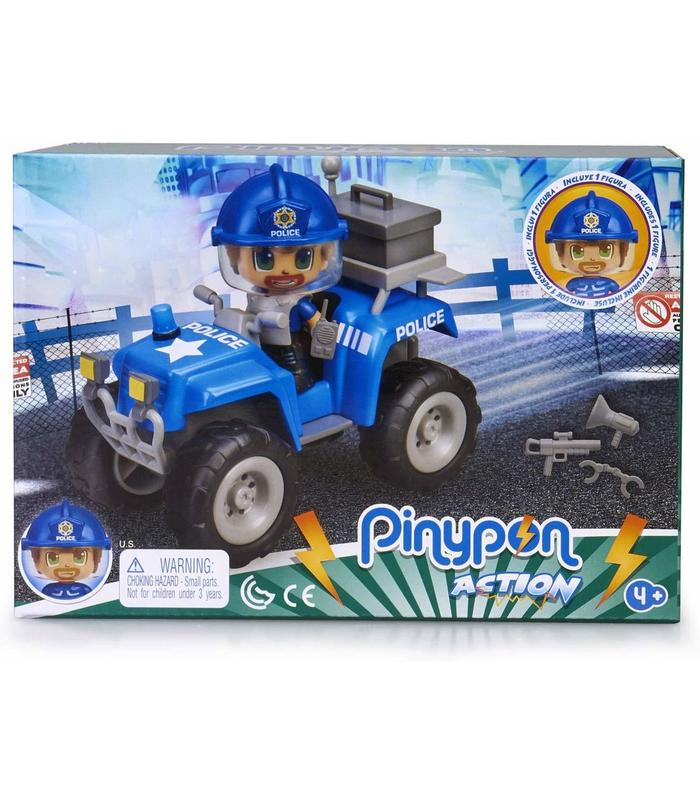 Pinypon Action. Police With Car Quad Toy Store