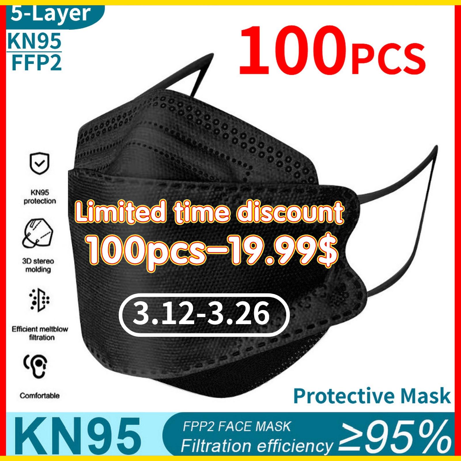 kn95 mask 100pcs