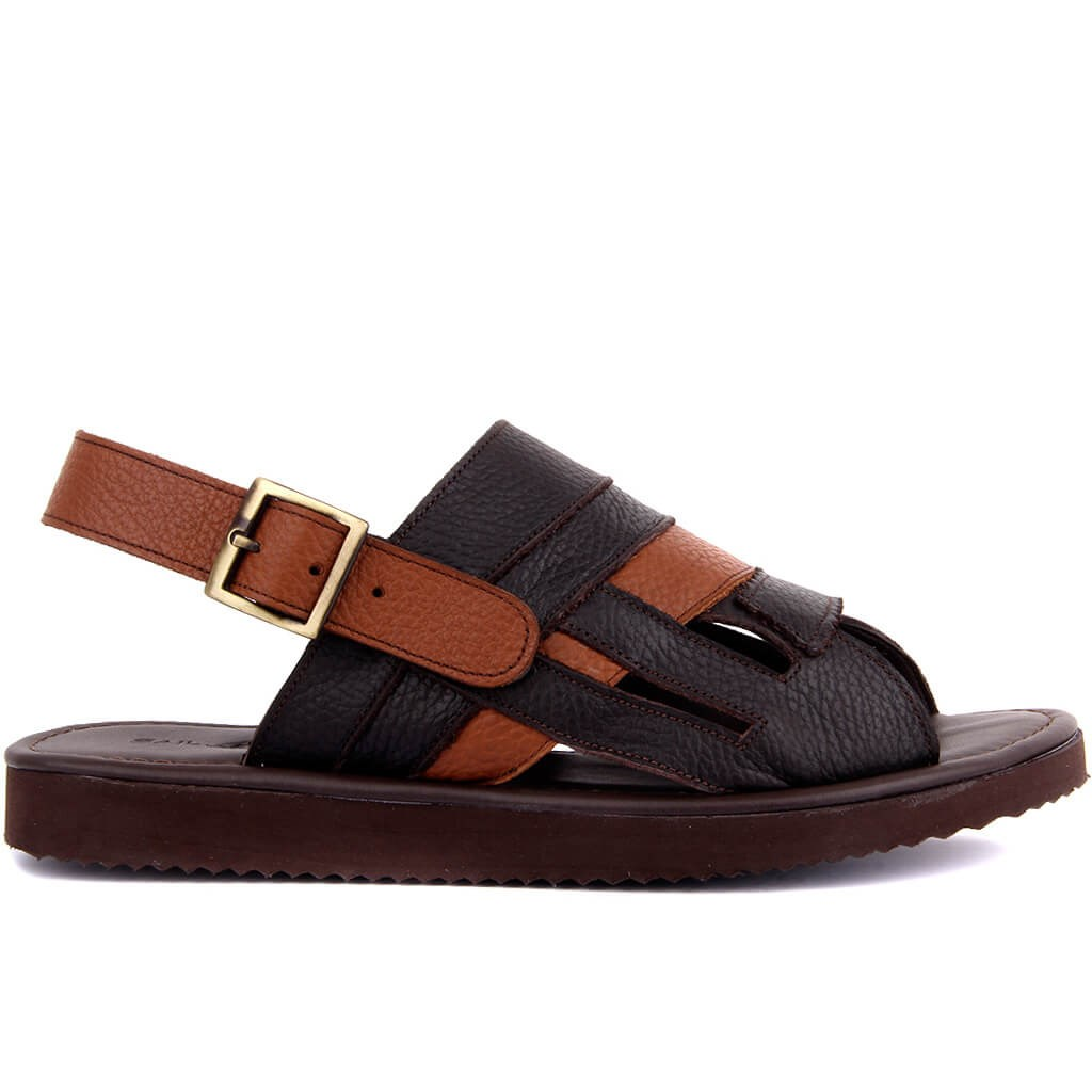 Sail Lakers-Brown, Tan Leather Men 'S Sandals