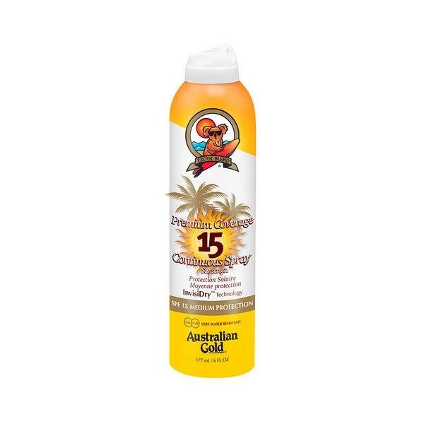 Spray Sonne Protector Premium Abdeckung Australischen Gold SPF 15 (177 ml)