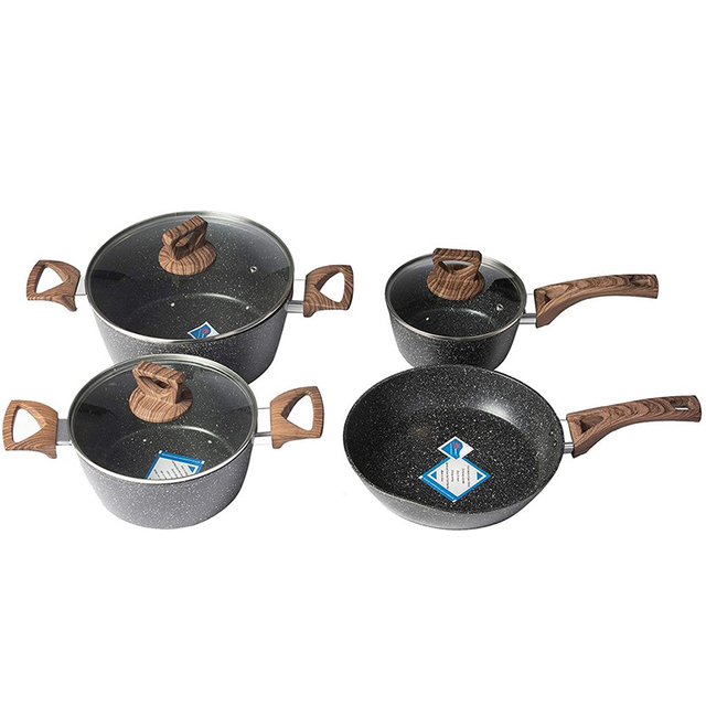 4pcs Stainless Steel Pots and Pans Sets Classic Cookware Set 1