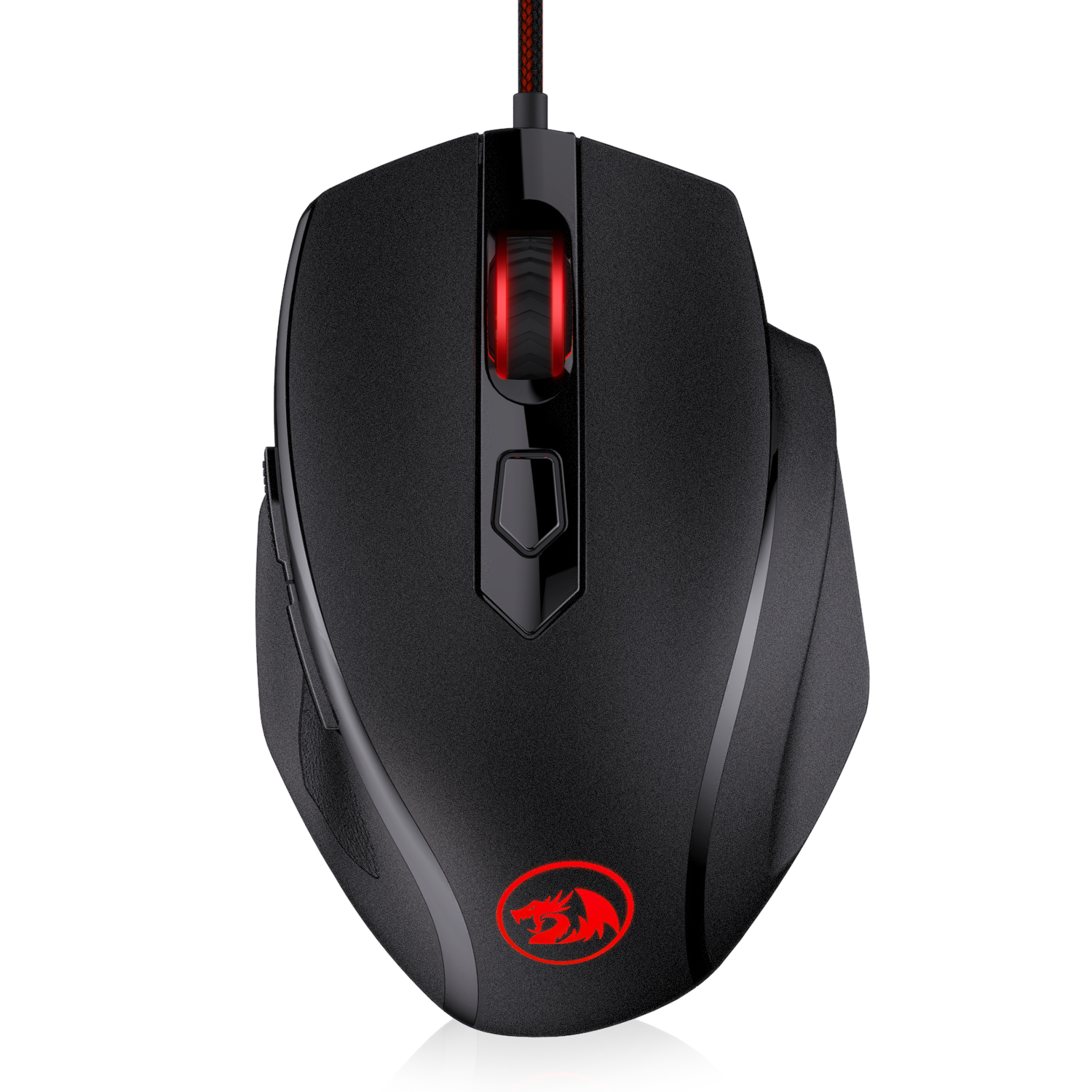 Redragon M709-1 Tiger2 Red LED Gaming Mouse, 3200 DPI Wired Optical Gamer Mouse With Precision Actuation, 5 Programmable Buttons
