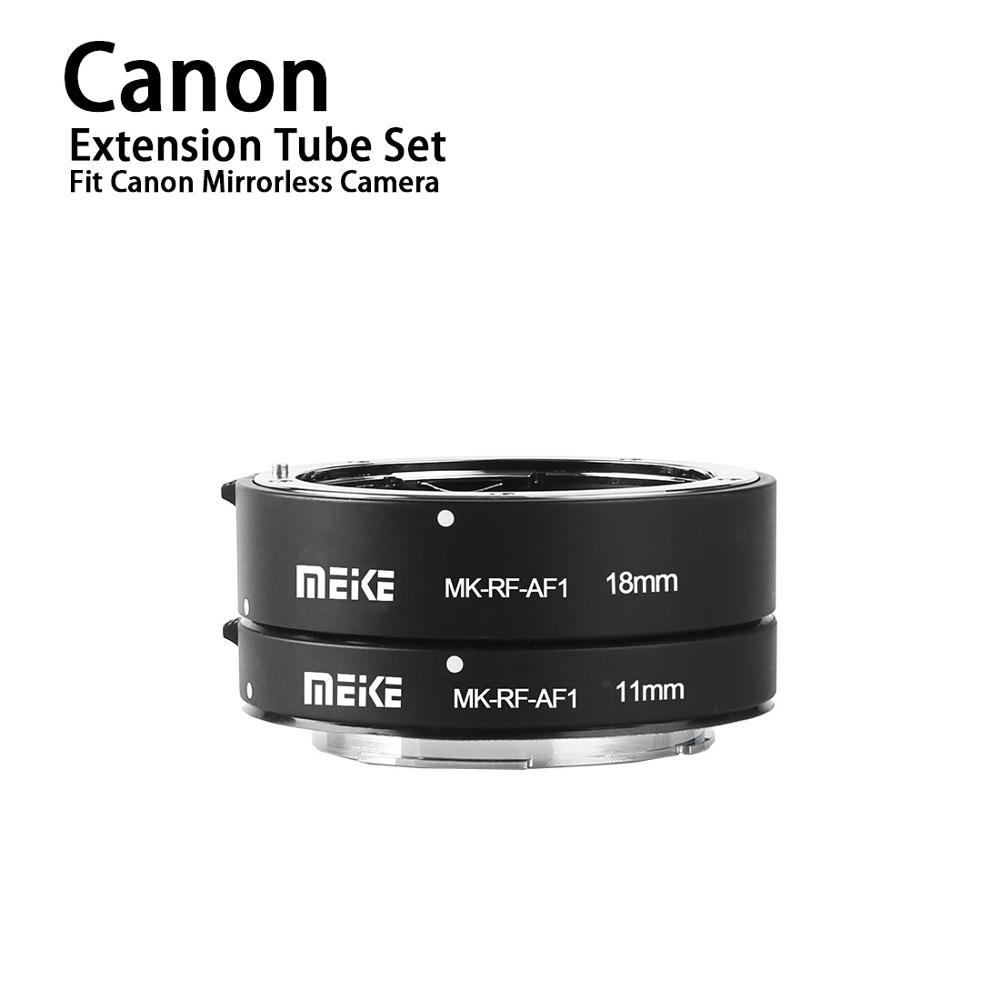Meike MK RF AF1 Metal Auto Focus Macro Extension Tube Ring 11mm  18mm for Canon EOS R EOS RP RF SeriesLens Adapter