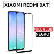 Закаленное стекло протектор Полный Клей для XIAOMI REDMI 9AT полный клей черный дисплей REDMI9AT MI 6,53