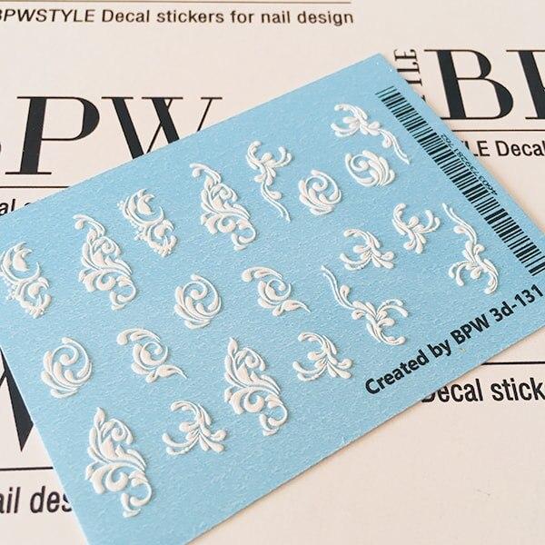 3D Slider Design Monogram, BPW. Style, Water Nail Sticker, 3d131
