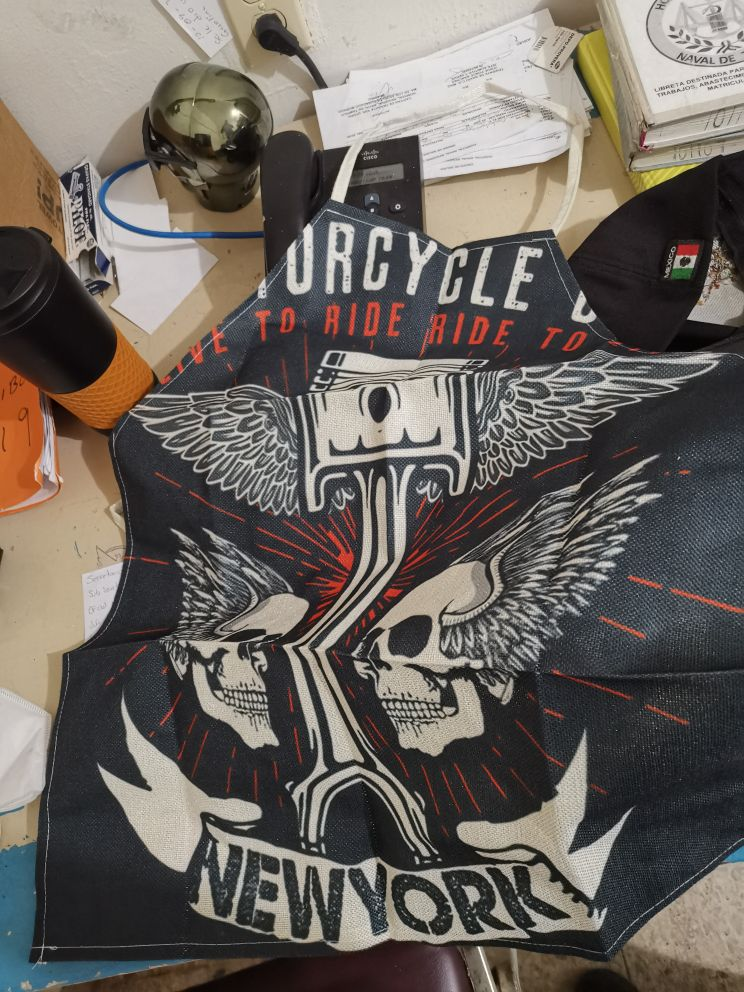 American Style Motorcycle Ride Kitchen Apron photo review