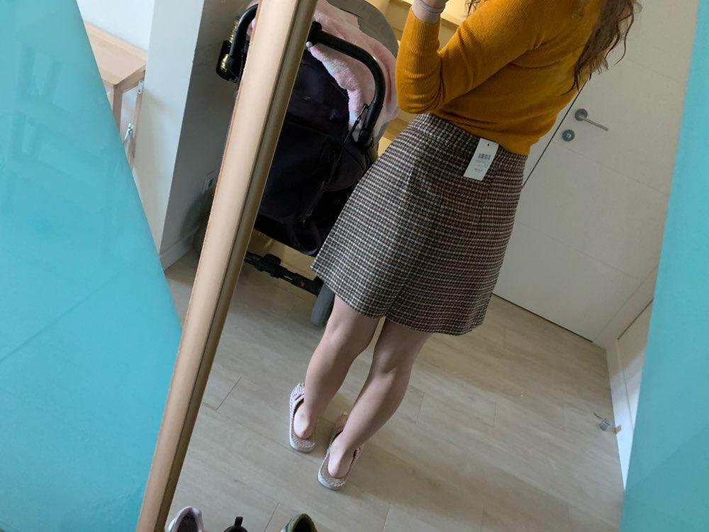 Woman Skirts Woman Pencil Skirt Lolita Bodycon Sexy Winte High Waist Vintage Petticoat Lattice Plaid Skirt Woolen photo review