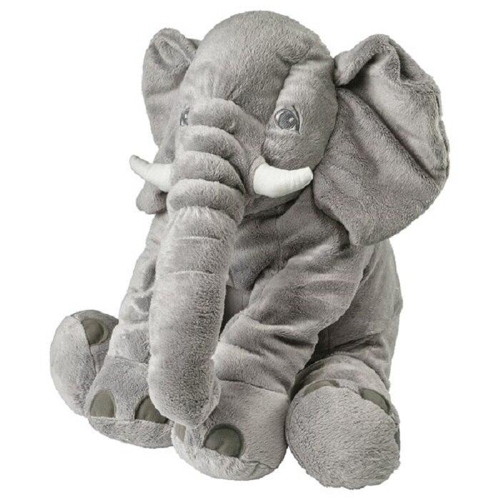 Grand éléphant en peluche, 60 cm, poupée jouet, oreiller bébé pour dormir, éléphant en peluche mignon, jouets en peluche