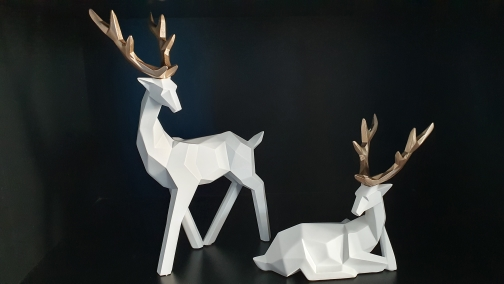 Deer Statues - Twin Set photo review