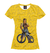 Ladies's T-shirt bicycle (sport) bike