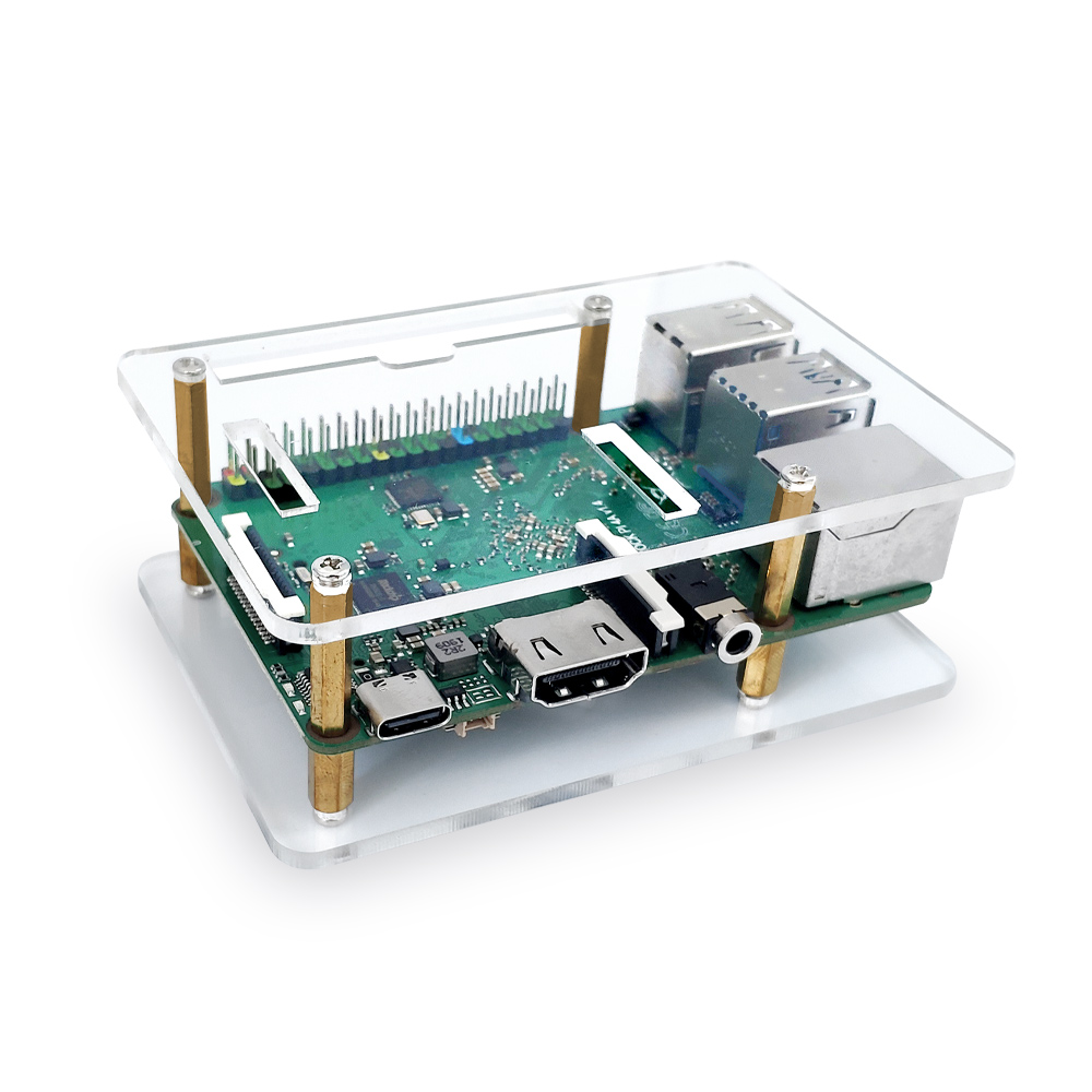 Acrylic Case (incl. CPU Heat Sink) For ROCK PI 4/ Rock Pi 4A/rock Pi 4B