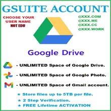 G Suite – nouveau compte⭐Stockage illimité sur Google Drive⭐Durée de vie⭐Nom d'utilisateur personnalisé