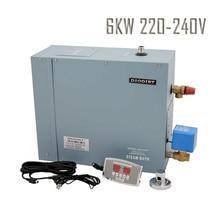 Низкая цена 6KW220-240v 1 фазный электрический парогенератор для паровой ванны душевой кабины
