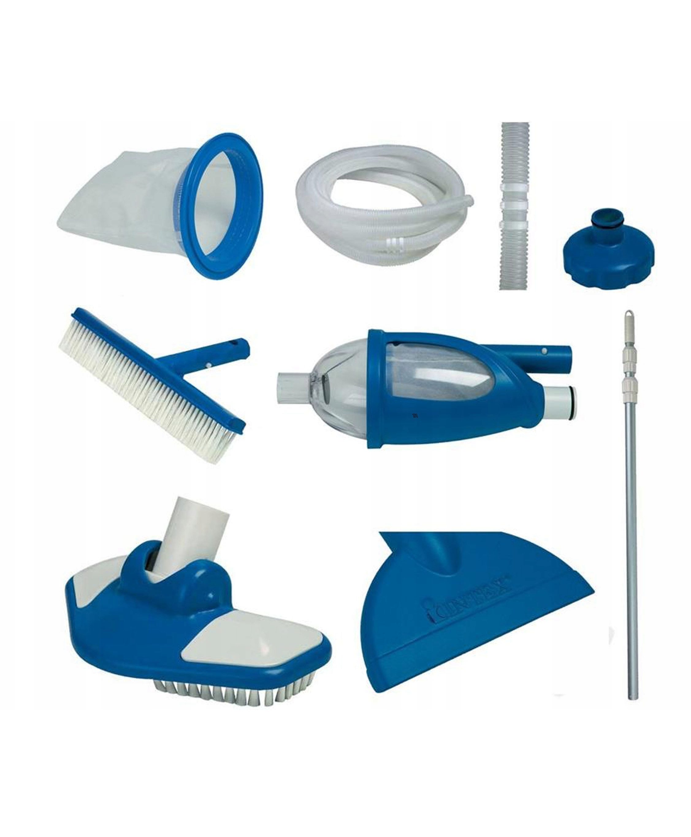 Set For Cleaning Pool Intex Deluxe, With Retractable Grip, Accessory For Cleaning Basin Item No. 28003