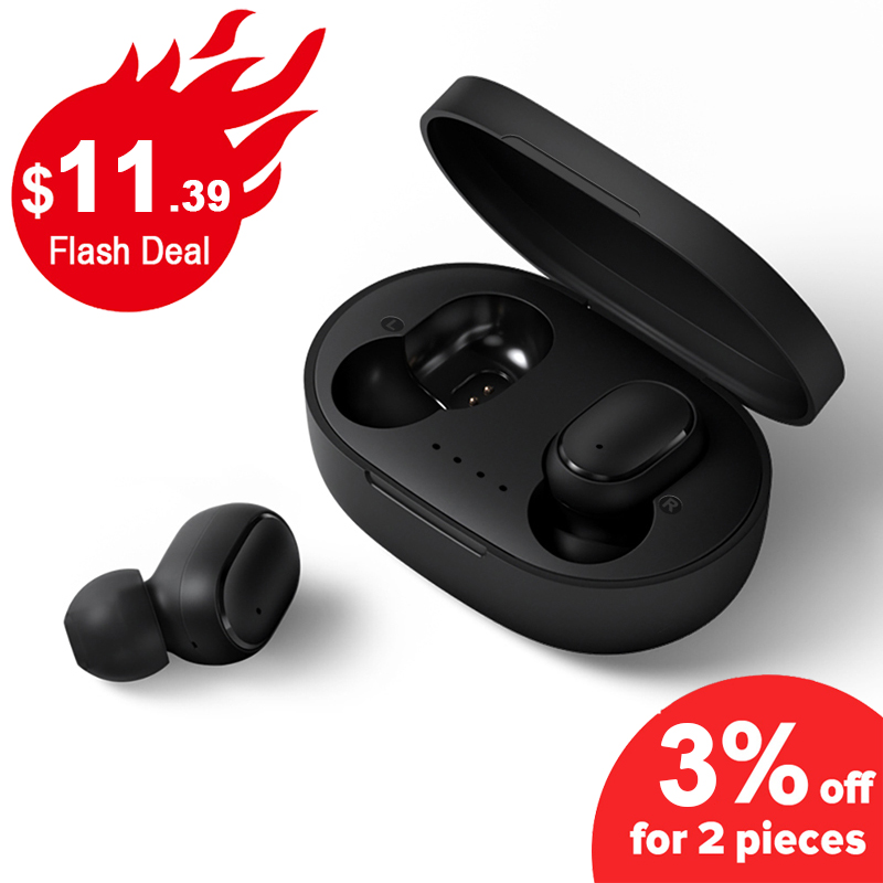 Drahtlose Kopfhörer Kopfhörer A6S PK Rot mi Airdots Headsets Stereo Bluetooth 5,0 Mit mi c Sport Earbuds PK mi Kopfhörer TWS