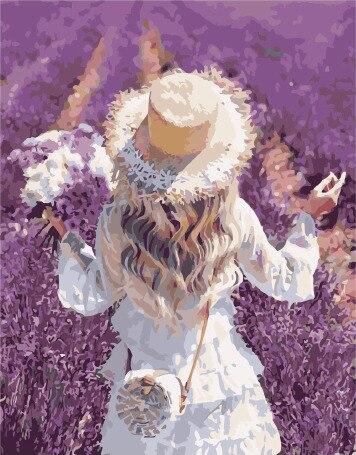 Painting By Numbers PK 38052 Enjoying Lavender Flavor 40*50