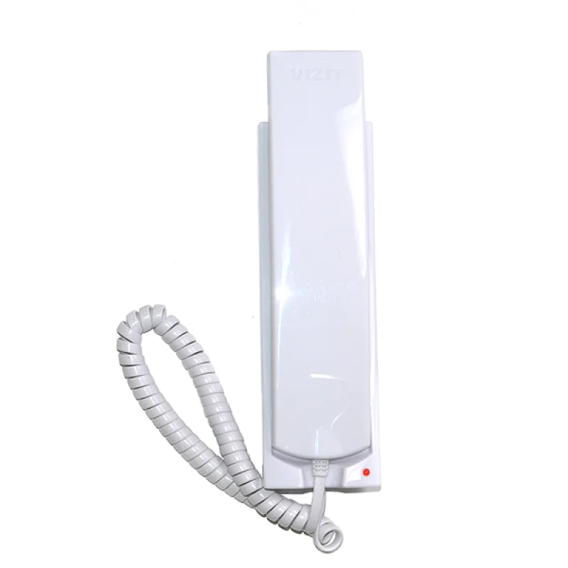 Трубка домофона Визит УКП-12 (VIZIT UKP-12). Трубка для подъездного координатного домофона. Регулировка громкости. Цвет: белый