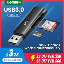 Lettore di schede UGREEN USB 3.0 2.0 a SD Micro SD TF adattatore per scheda di memoria per accessori per Laptop lettore di schede Multi Smart Cardreader