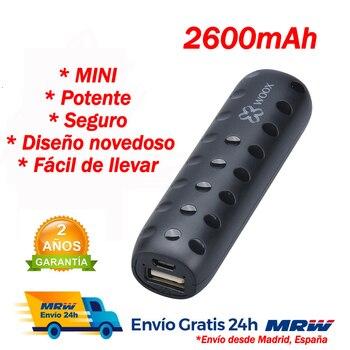 Mini Power bank Carga rápida Bateria externa movil Cargador móvil con cable...