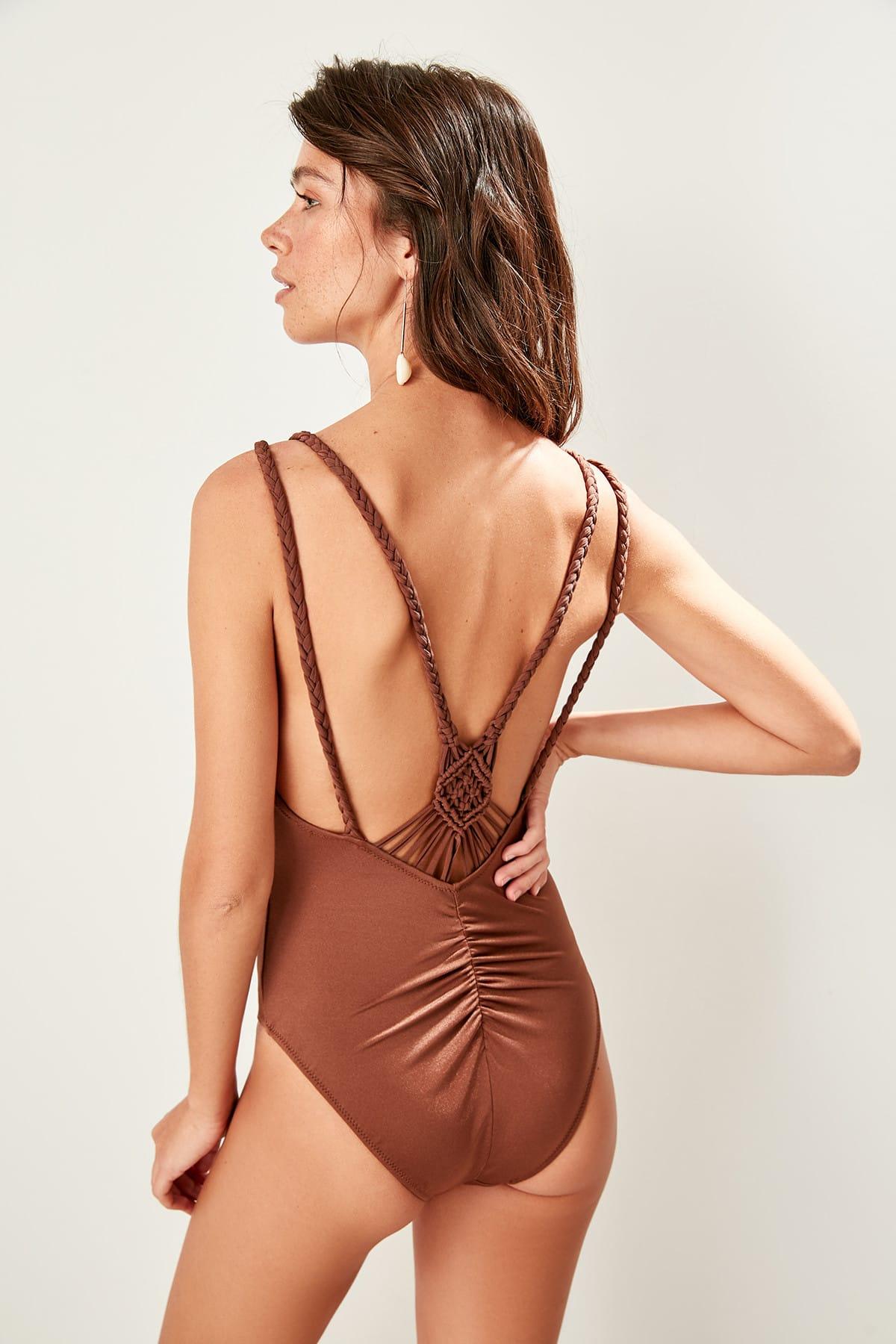 Trendyol Tread Makrameli Swimwear TBESS19CH0096