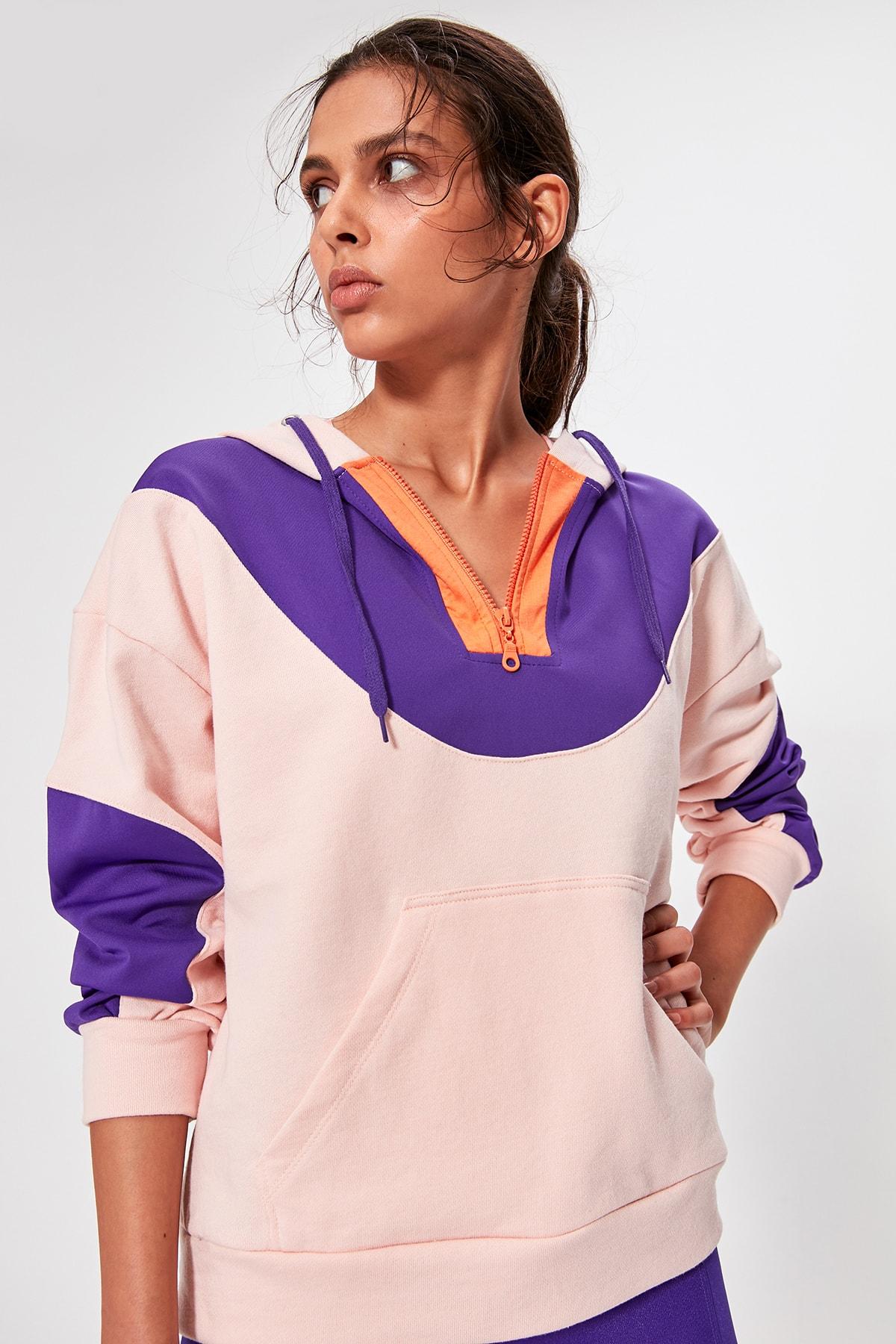 Trendyol With Color Block Sports Sweatshirt TWOAW20SW0335