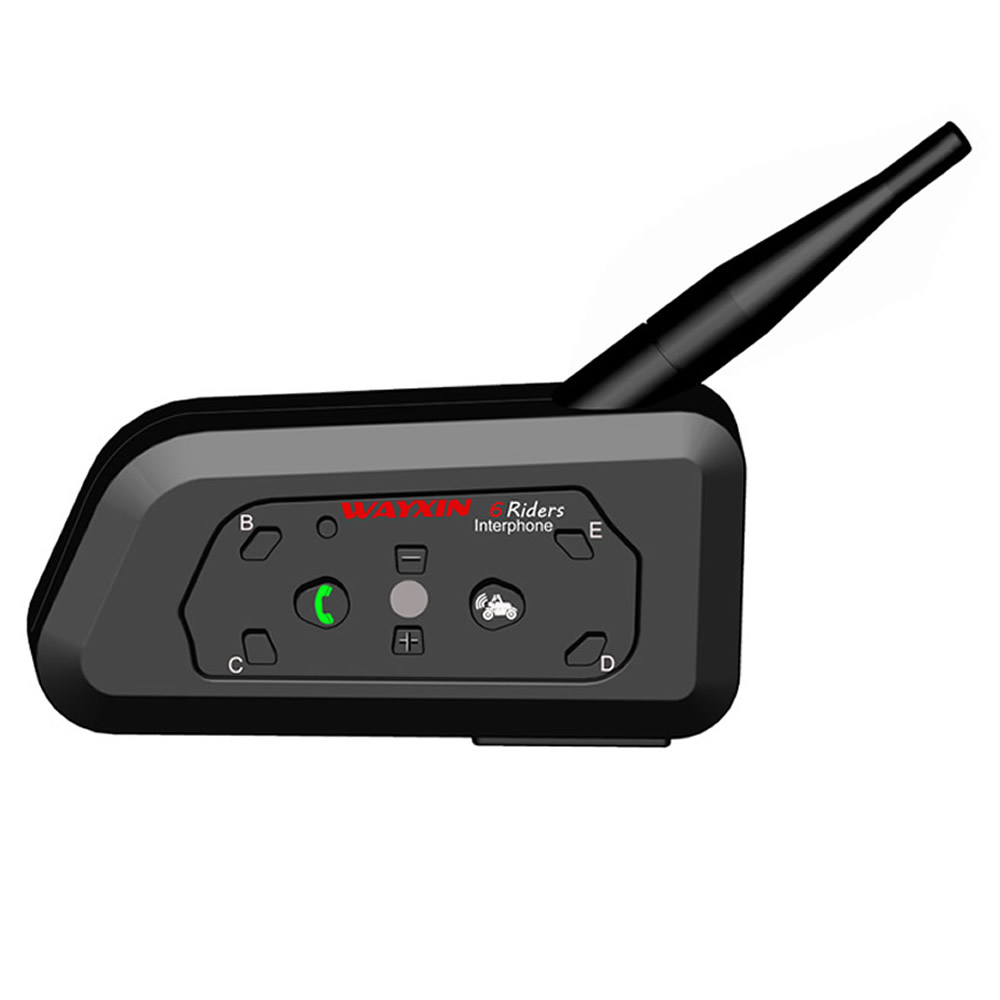 WAYXIN Intercom Helmet Interphone-Speaker Bluetooth-Headset Motorcycle Communication title=