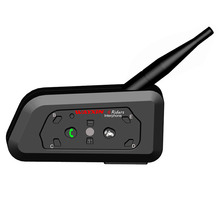 WAYXIN R6 إنترفون خوذة تحوي سماعة بلوتوث للدراجات النارية الاتصالات الداخلي 6 الدراجين البيني المتكلم MP3 لتحديد المواقع بلوتوث