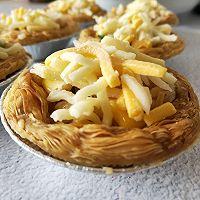 """蛋挞焗饭#美食说出""""新年好""""#的做法图解4"""
