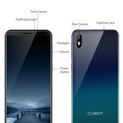 Чехол для Cubot J5 смартфона 5,5 18:9 полный Экран MT6580 Quad-Core Android 9,0 телефон 2 Гб Оперативная память 16 Гб Встроенная память черного цвета
