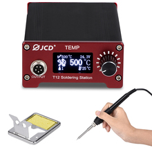 JCD  T12 Soldering Station DIY Temperature Controller Electronic Welding Iron Tips Handle Aluminum Alloy Case Power Equipments