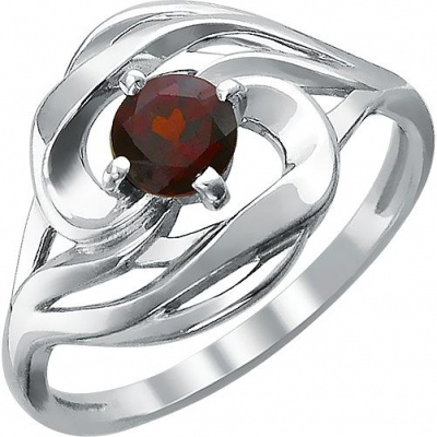 Jewelry Tradition Ring With 1 Garnet Of Silver