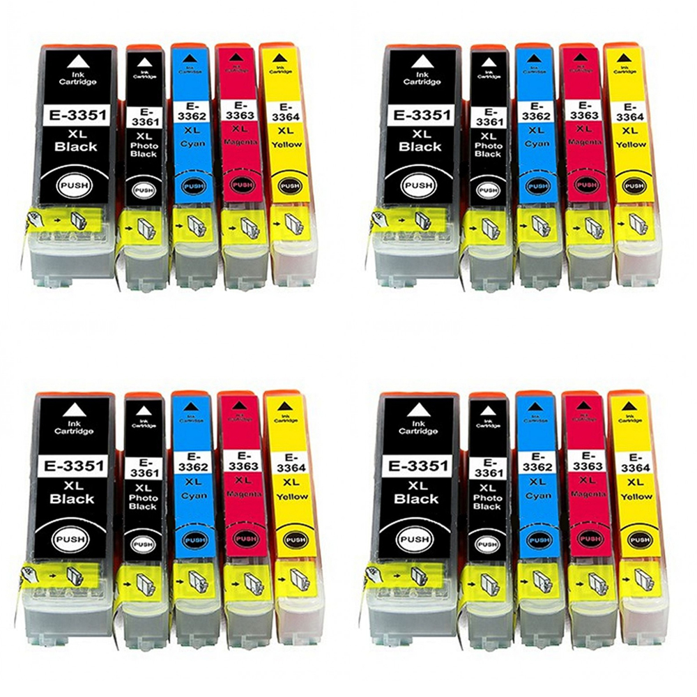20 Ink Cartriges 33XL Model 33 XL T3351 T3361 T3362 T3363 T3371 Compatible With Epson Printers XP-530 XP-630 XP-635