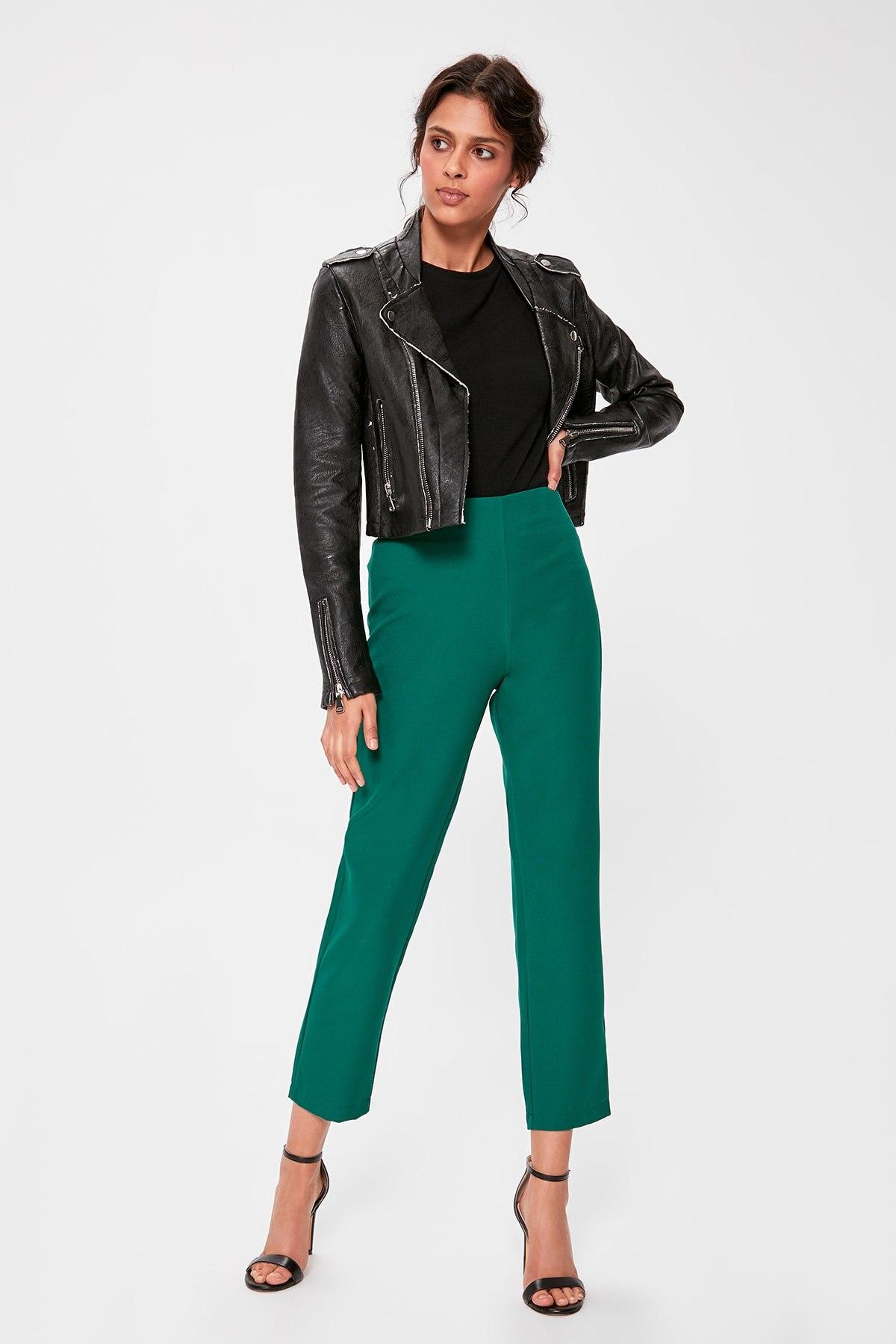 Trendyol Emerald Green Basic Pants TWOAW20PL0056