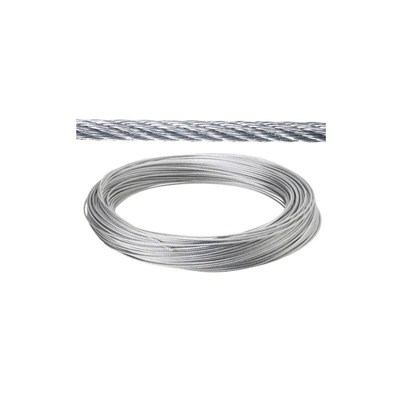Galvanized Cable 2mm. (Roll 100 Meters) Not Lift