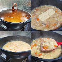 熊本熊奶油浓汤盖浇饭的做法图解3