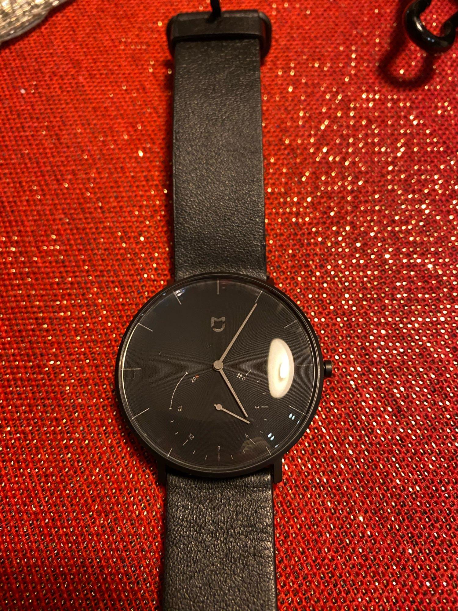 XIAOMI Mi Mijia QUARTZ Smart Watch Life Waterproof with Double Dials Alarm Sport Sensor Pedometer Time Leather Band Mi Home APP|Smart Watches|   - AliExpress