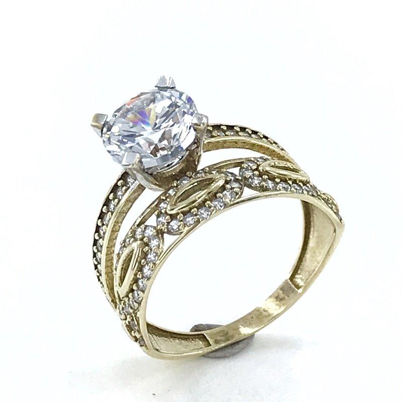 Eternity Wedding Ring Engagement Dual 8 K Gold Ring