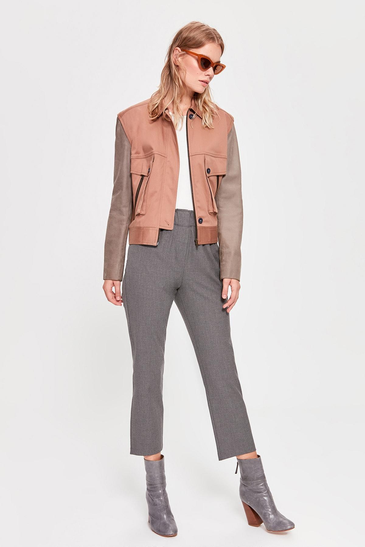Trendyol Gray Basic Pants TWOAW20PL0324