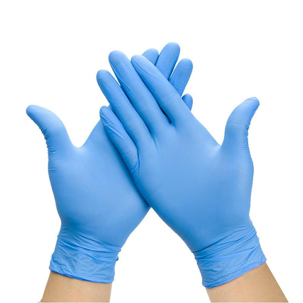 Disposable 100% nitrile gloves (blue and violet) size S