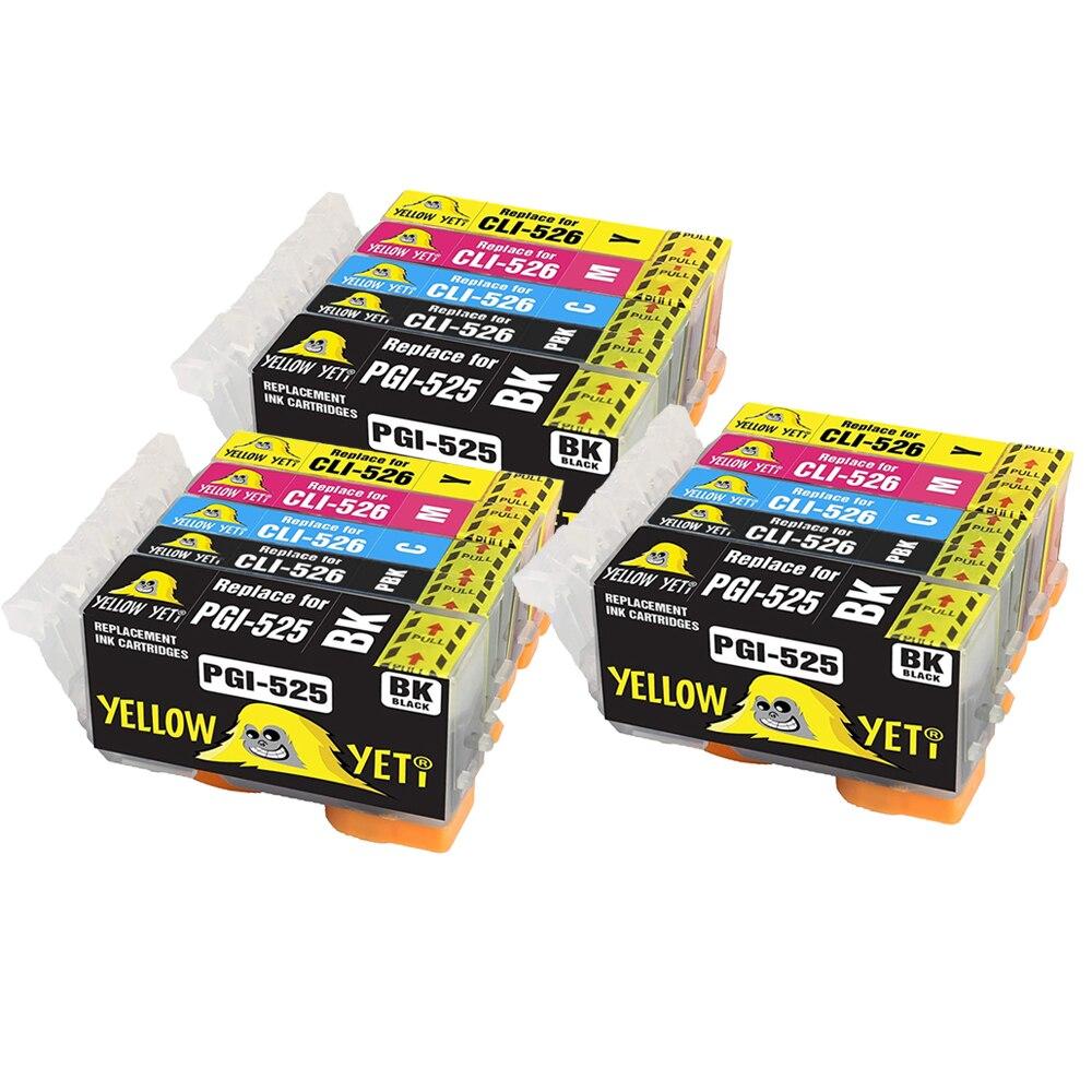 15 шт. PGI525 CLI526 чернильный картридж для PGI 525 CLI 526 Canon MX885 MG5120 iX6550 MG6150 MG8150 IP4950 MG5150 IP4850 iP4800 MG5350