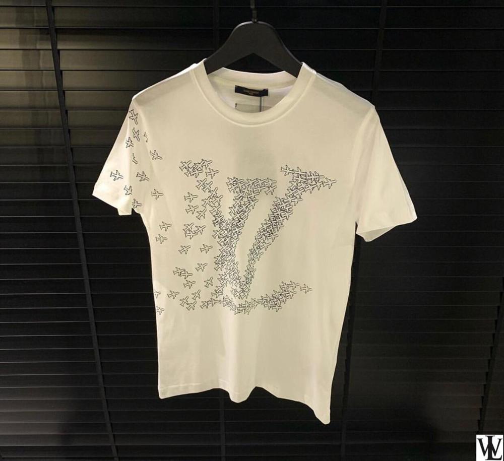 T Shirt Slim Fit Black T Shirt Men %100 Cotton New Session Chain Print Luxury Wear