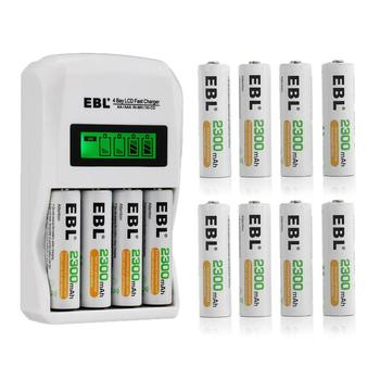 smart battery charger for ni mh rechargeable 9 volt aa aaa batteries 18650 2pcs 9v 300mah rechargeable batteries EBL 2300mAh Rechargeable Battery 1.2v AA Battery + Smart LCD Battery Charger for AA AAA Ni-MH Ni-CD Rechargeable Batteries