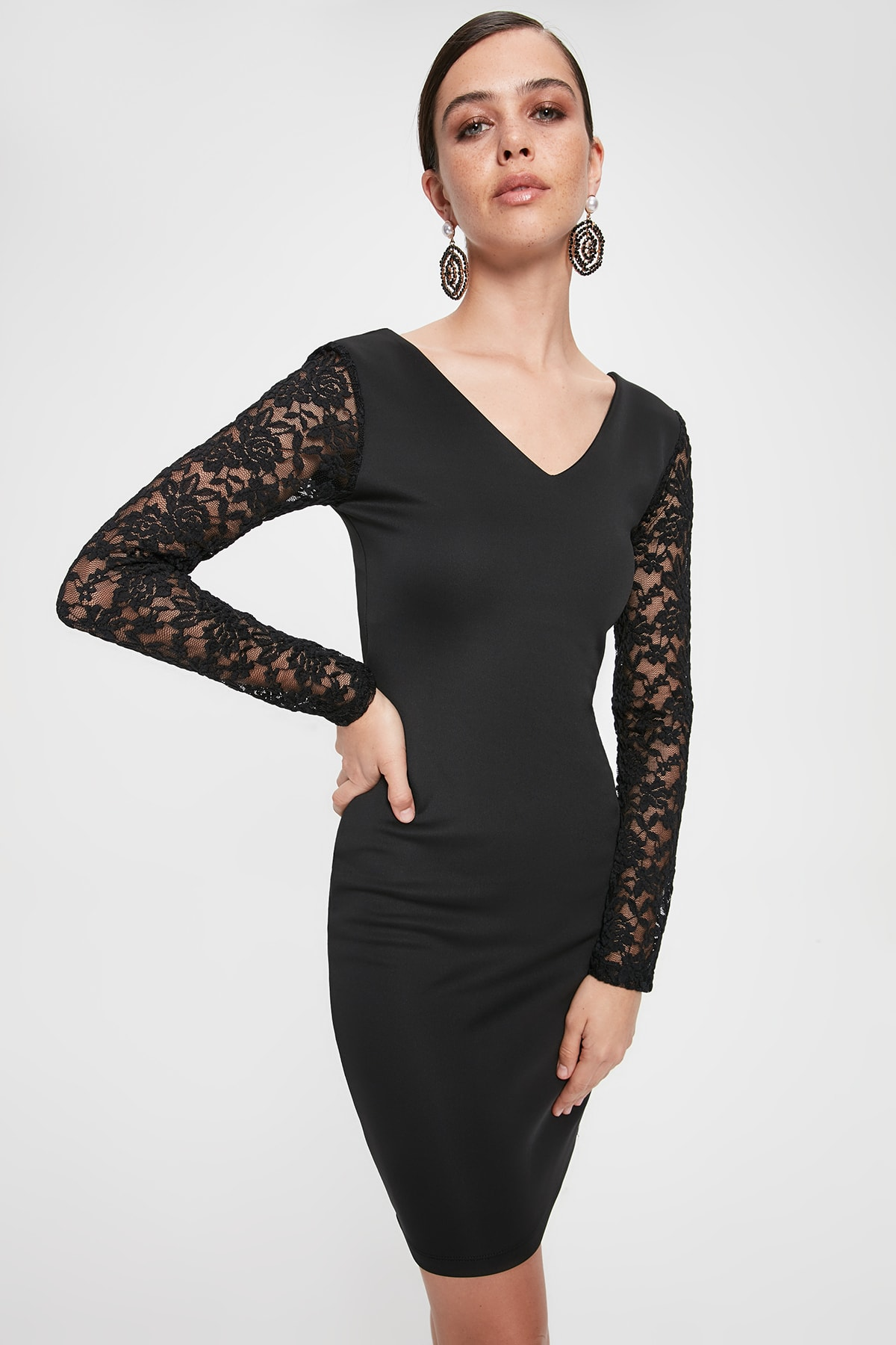 Trendyol Sleeves Lace Dress TPRAW20EL2194
