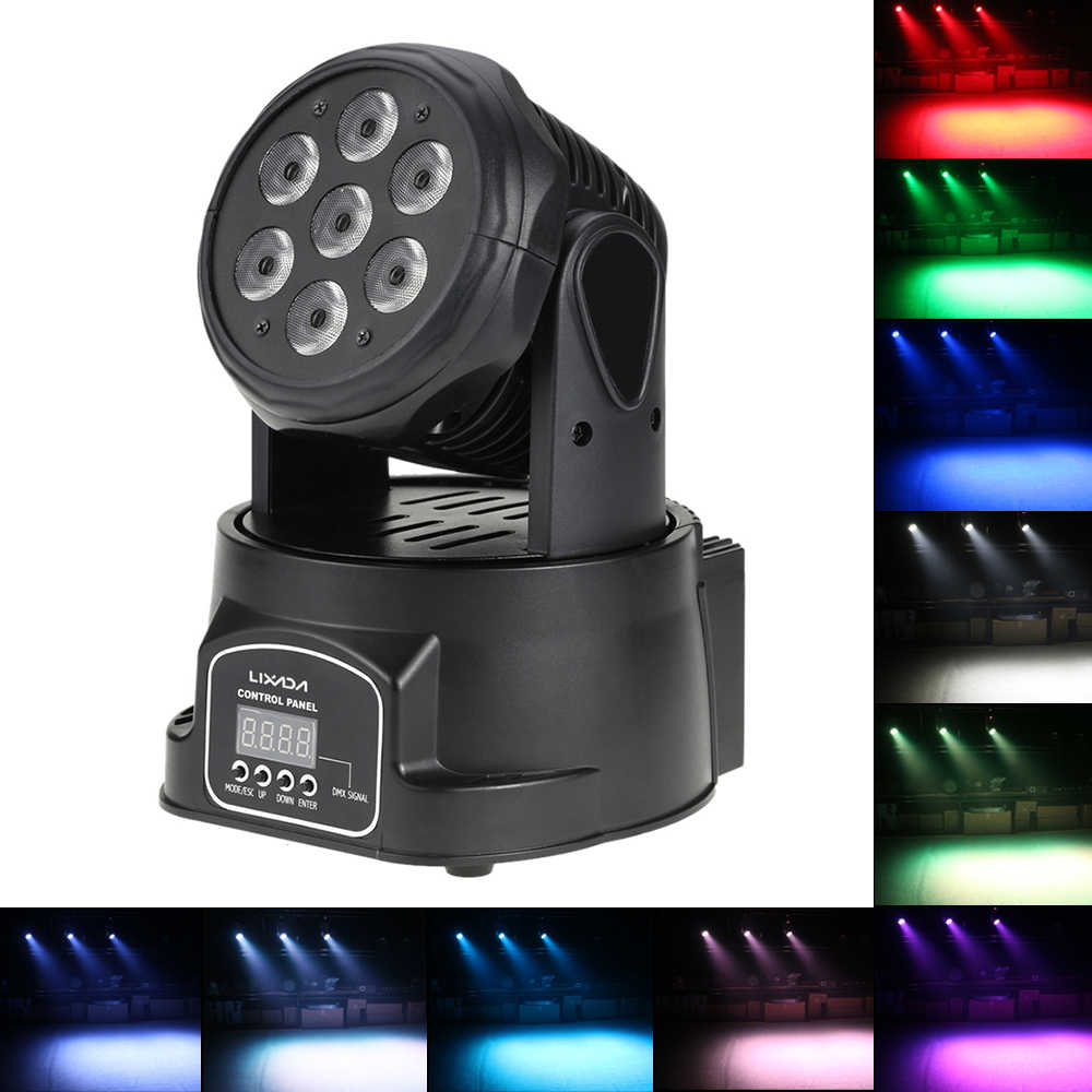 Disco Light DMX RGBW LED Panggung Lampu Moving Head Beam Lampu Pesta DMX-512 LED DJ Natal Suara Aktif LED par DJ Light
