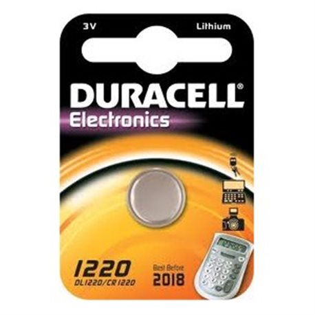 BUTTON BATTERY DURACELL 1220