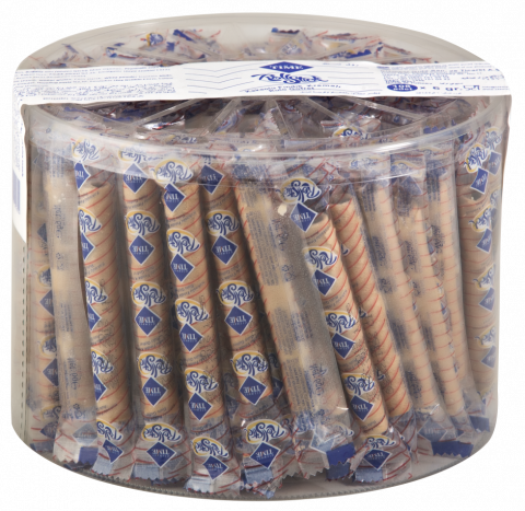 Cizmeci Time Rollstick Wafer Filled Cocoa and Hazelnut Cream 6 GR x 108 PIECES SNACK