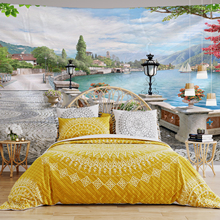 Beautiful Ancient Architecture Print Wall Hippie Tapestry Polyester Fabric Home Decor Wall Rug Carpets Hanging Big Couch Blanket