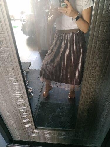 Polka Dot Reversible Velvet Midi Skirt Womens Autumn Winter Korean High Waist Long A Line Pleated Skirt Female photo review